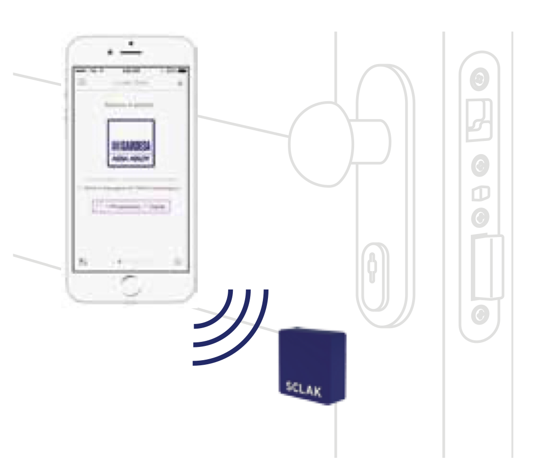 Gardesa - Sistema SCLAK per apertura controllata da Smartphone